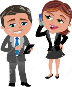 business-woman-man-working-mobile-tablet-illustration-featuring-meg-phone-bob-isolated-white-background-32529554 copy
